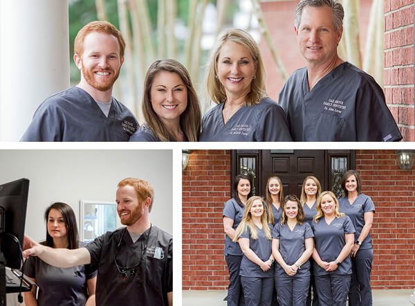 A collage of our team members and doctors smiling as they offer family dentistry