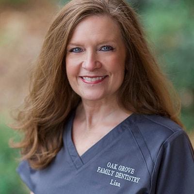 Our dental hygienist smiling up-close