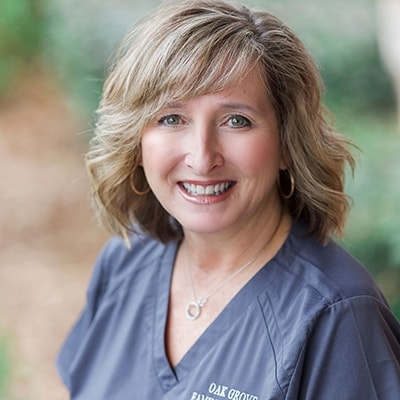 Our dental hygienist showing off her smile