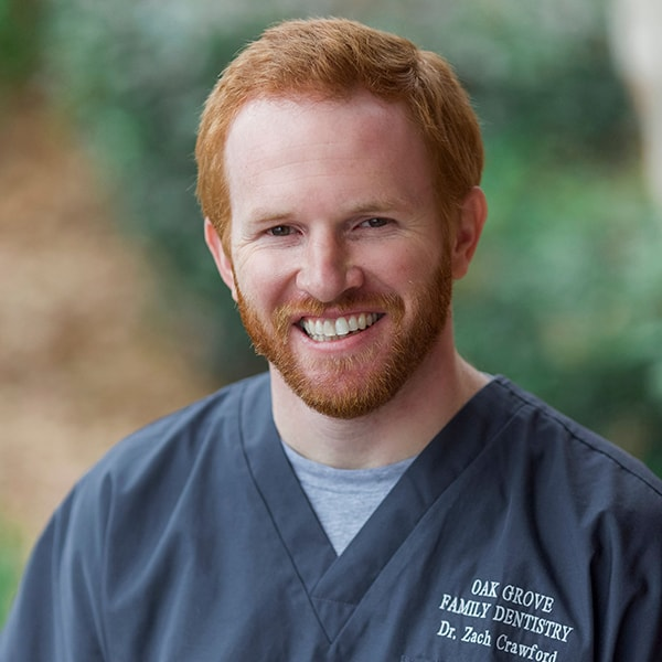 Headshot of our dentists, Dr. Zach Crawford